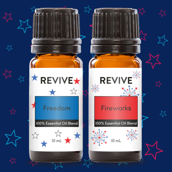 REVIVE Fireworks is a warm and sweet blend is an explosion of aroma that is an essential summer oil! REVIVE Fireworks is a proprietary blend of Sweet Orange, Patchouli, Copaiba, Bergamot, Sandalwaood, Tobacco, Osmanthus, Pink Pepper, Lavadin, Galbanum essential oils and Vanilla absolute.