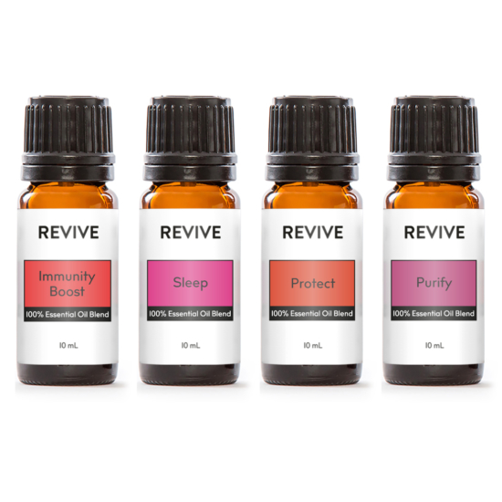 Our REVIVE Cold & Flu Season Kit has REVIVE Immunity Boost, REVIVE Protect, REVIVE Sleep, and REVIVE Purify.