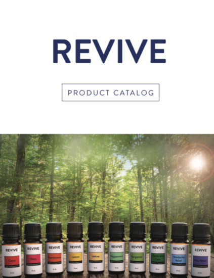 The Mini Catalog is a bound, full color catalog of all our oils! The REVIVE Catalog lists uses for each REVIVE Essential Oil & Blend.  It even has a page where you can check off the REVIVE Oils you
