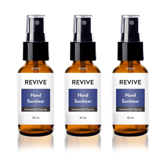 Unscented Hand Sanitizer Spray 3 Pack!