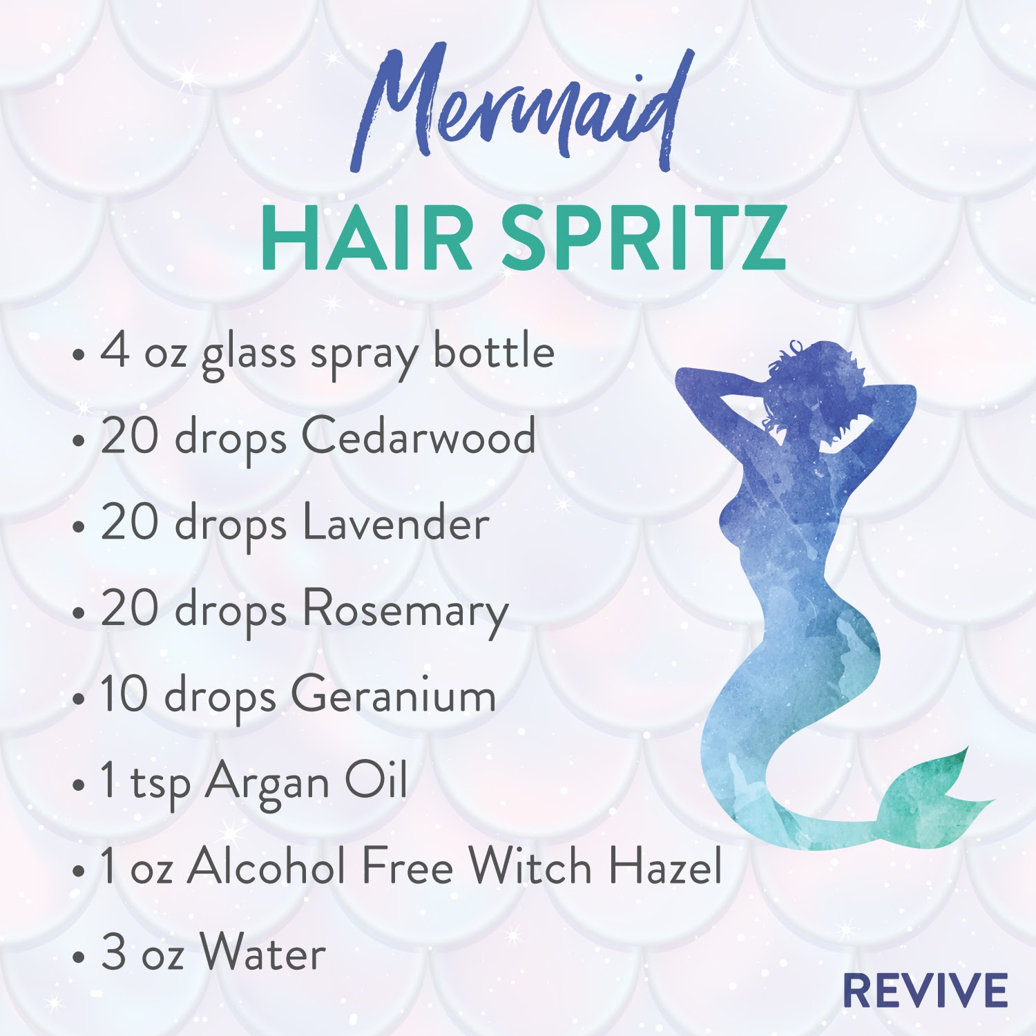 Mermaid Hair Spritz with Essential Oils