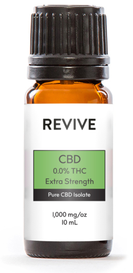 REVIVE CBD 0.0% THC Extra Strength products have undetectable levels of THC so will not show up on drug tests. It is tasteless and formulated to help relieve pain, reduce stress, alleviate anxiety, and helps you get a good night's sleep.