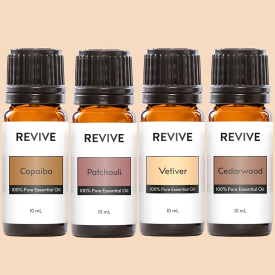 Our REVIVE Woodsy Kit has all of your favorite Woodsy Essential Oils all in one spot!